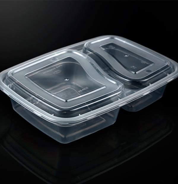6828分格餐盒1X150套(透明)