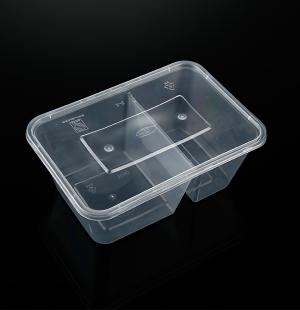 1000ML分格(透明)餐盒1X300套