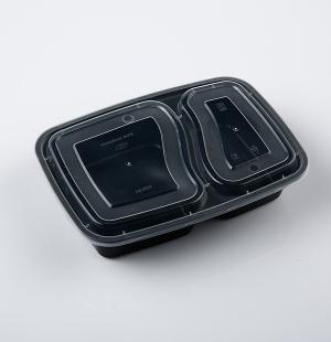 6828分格餐盒(黑色)1x150套