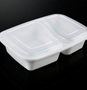 6828分格餐盒(奶白色)1x150套