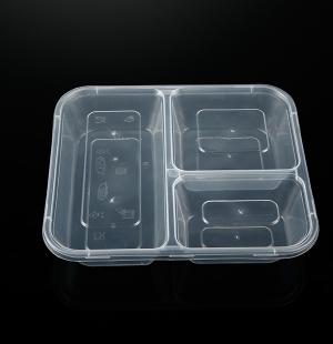 三格餐盒(透明)1X100套
