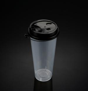 9070奶茶杯(黑色连体盖)