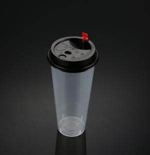 9070奶茶杯(黑色分体盖)