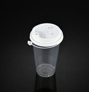 9050奶茶杯(白色连体盖)