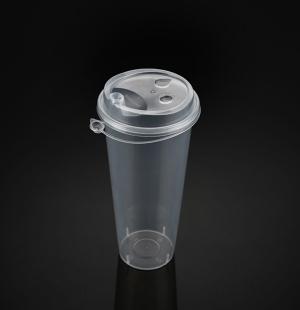 9070奶茶杯(透明连体盖)