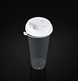 9070奶茶杯(白色连体盖)