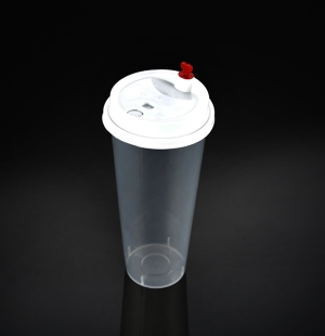 9070奶茶杯(奶白分体盖)