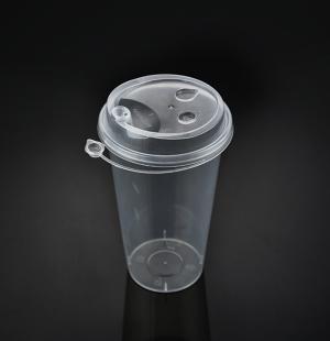 9050奶茶杯(透明连体盖)